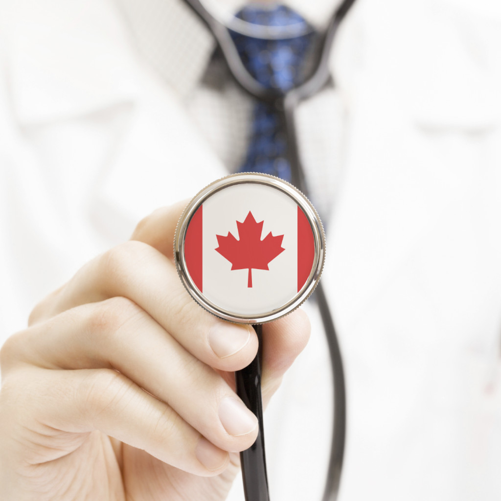 National flag on stethoscope conceptual series – Canada